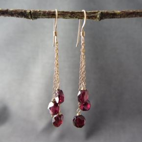 Win a pair of garnet earrings