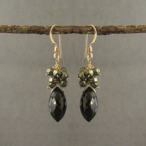 Spinel & Pyrite Earrings €76