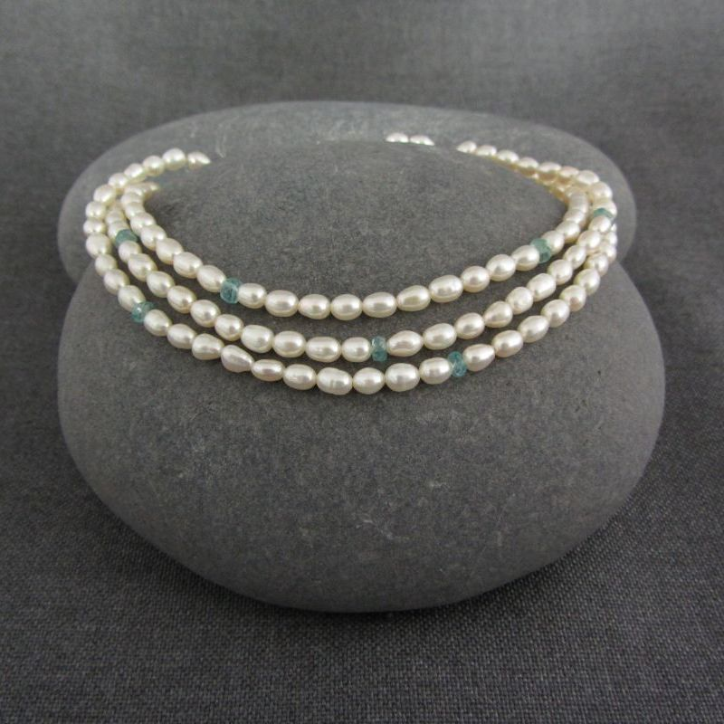 Pearl & Apatite Necklace €87