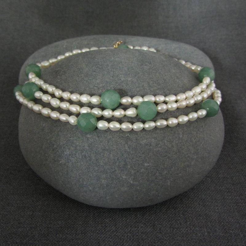Pearl & Aventurine Necklace
