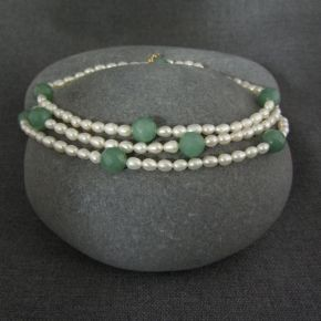 Pearl & Aventurine Necklace €87