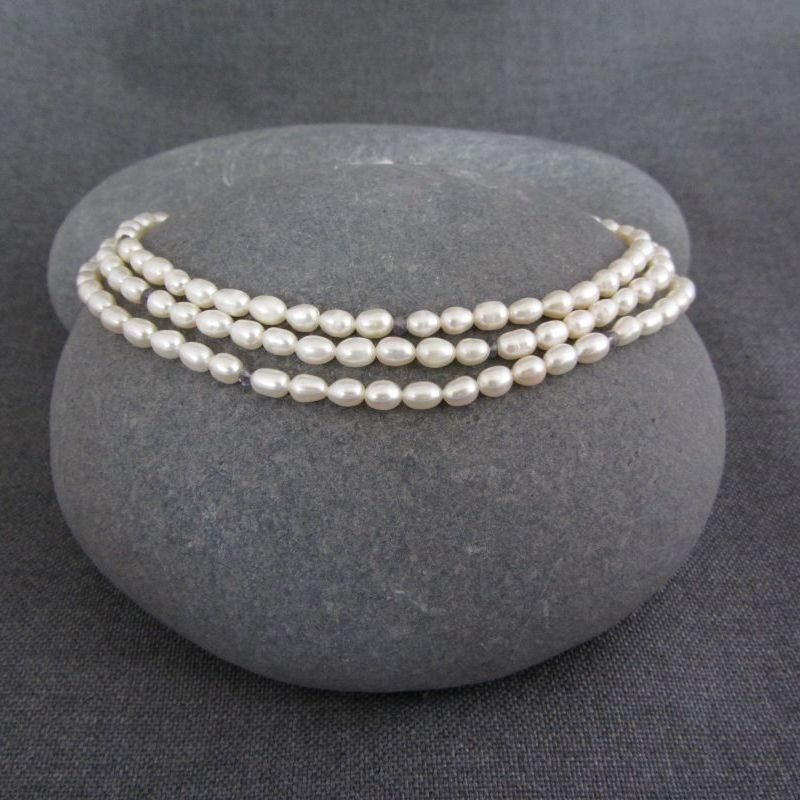 Pearl & Iolite Necklace