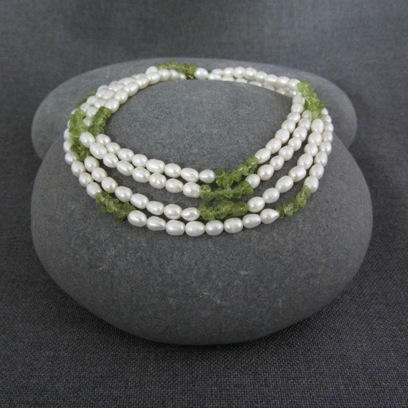 Pearl & Peridot Necklace