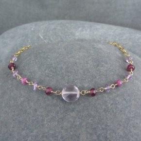 Amethyst, Garnet & Sapphire Bracelet €64