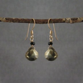 Pyrite & Spinel Earrings €45