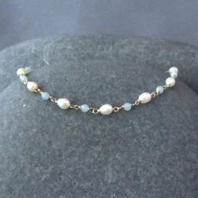 Amazonite & Pearl Bracelet €64