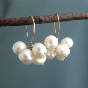 Pearl Cluster Earrings €64