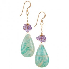 Amazonite & Amethyst Earrings €64