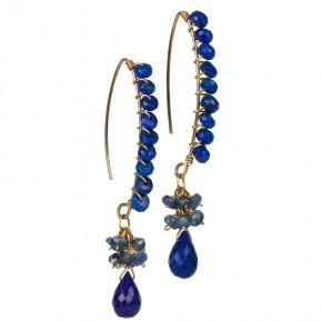 Lapis Lazuli & Sapphire Earrings €83