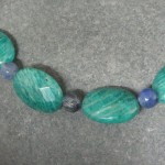 Close Up of Amazonite & Sodalite Necklace