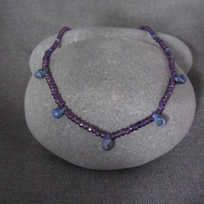 Amethyst & Sodalite Necklace