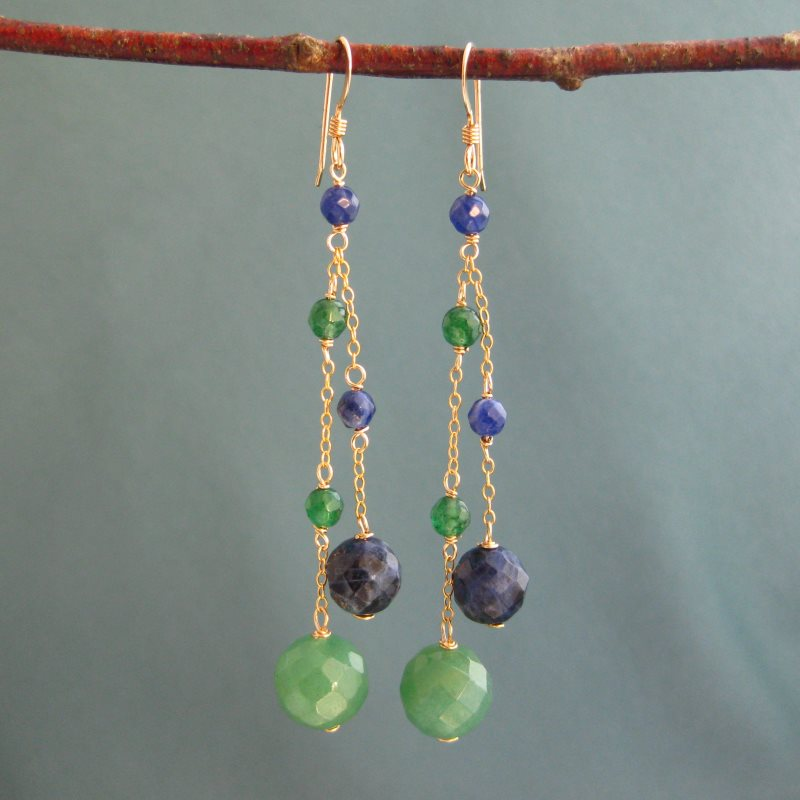 Aventurine & Sodalite Earrings