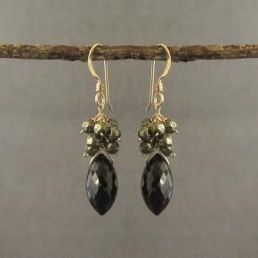 Spinel & Pyrite Earrings €76