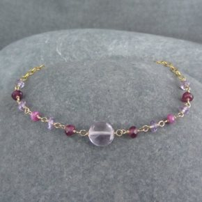 Amethyst, Garnet & Sapphire Bracelet