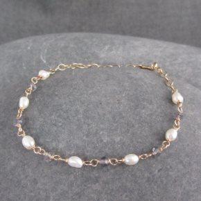 Pearl & Iolite Bracelet