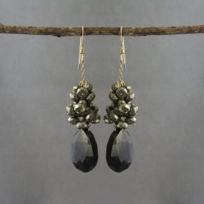 Spinel & Pyrite Earrings €83