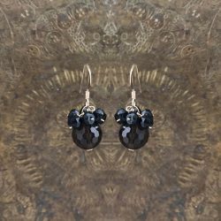 Smokey quartz and black spinel earrings