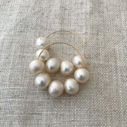 Freshwater Pearl Gold Filled Hoop Earrings